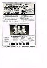 PUBLICITE ADVERTISING  054  1978  LEROY-MERLIN   magasin de BRICOLAGE TOUT POUR