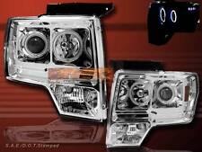 2009 2010 2011 FORD F150 PROJECTOR HEADLIGHTS LED TWIN HALO CCFL CHROME