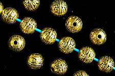 20  x  ROUND~ANTIQUE GOLD~TIBETAN STYLE~SPACER BEADS, 8 MM