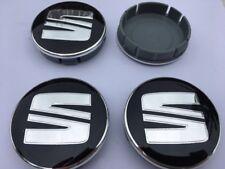 SEAT Cache Moyeux Centres de Roue Chrome Emblem 4p x 60mm/55mm  *NEUF*