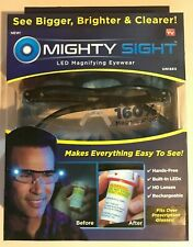 Mighty Sight Led Magnifying Eyewear Glasses Bigger Brighter Clear As Seen on TV