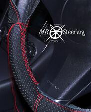 Para Mercedes W203 00+ Cubierta del Volante Cuero Perforado rojo doble puntada