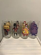 Vintage McDonalds Collector Series Ronald And friends Character Glasses 1977