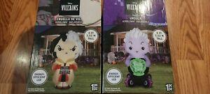 Set of 2 Disney Villains 5 FT Airblown Inflatables Cruella De Vil Ursula