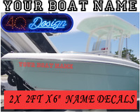 2X Large 2FT PERSONALISED BOAT NAME Decals /Stickers / Graphics 2x 600mm x 150mm