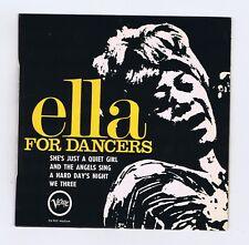 45 RPM EP ELLA FITZGERALD FOR DANCERS