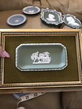 Vintage Wedgewood Framed Plaque Jasperware Tray Chariot Winged