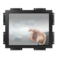 "Metal material 19"" inch industrial embedd resistive LCD touch display monitor"