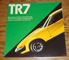 Original 1975 Triumph TR7 Foldout Sales Brochure 75