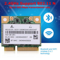 AR5B225 Wireless Wifi Bluetooth4.0 Network Card Mini PCI-E 300Mbps For DELL ASUS