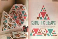 CROSS STITCH CHART Geometric Cushion Cover 2 Designs Triangle Motif PATTERN ONLY