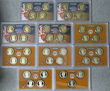 2007 2008 thru 2015 2016 Proof Presidential Dollar Set - 39 coins