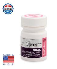 Element 20 Benzocaine Topical Anesthetic Gel Bubble Gum Flavor 1oz Jar