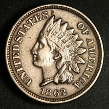 1862 INDIAN HEAD CENT - With LIBERTY - VF/XF