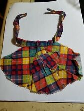 Vintage Doll Apron, Not Labeled but Quality patch work Design with pocket