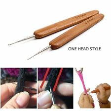 0.5mm Crochet Needle Hook Dreadlock Braiding Hair Bamboo Handle Yarn Sewing Tool