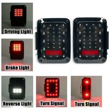 For 2007-17 Jeep Wrangler JK LED Tail Lights Brake Reverse Rear Turn Signal Lamp