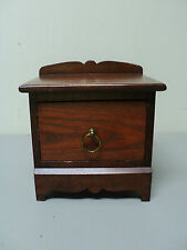 GREAT VINTAGE SALESMAN'S SAMPLE MINIATURE WALNUT CHIPPENDALE STYLE BLANKET CHEST