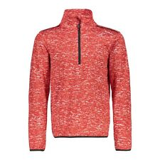 CMP Fleece Pullover Jumper Boy Sweat Printed Red Breathable Elastic