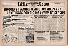 1958 REMINGTON 740 Woodmaster 760 Gamemaster,722 Bolt-Action Rifle Centerfold AD