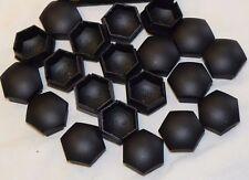 GENUINE NISSAN QASHQAI JUKE MICRA WHEEL NUT BOLT COVERS CAPS 17mm BLACK x16