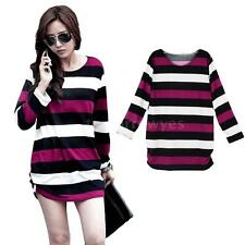 Blouse Stretch Singlepack Striped Tops & Shirts for Women