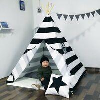 5' Indian Play Tent Stripe Canvas Kids Teepee Children Playhouse Sleeping  UK