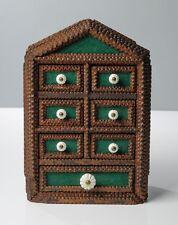 Antico Rustico Wooded Vagabondo ART ware set di chip bramava Spice Cassetti