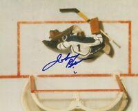 VINTAGE JOHNNY BOWER SIGNED TORONTO MAPLE LEAFS GOALIE 8x10 PHOTO HHOF Autograph