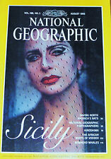 NATIONAL GEOGRAPHIC AUGUST 1995 SICILY BATS HIROSHIMA VOODOO WHALES PHOTOGRAPHER