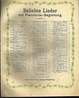 """"""" Aus der Jugendzeit """" ~ von Robert Radecke, übergroße, alte Noten"""