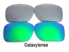 Galaxy Repuesto Lentes Para Oakley Oil tambor Gafas de sol verde / Titanio