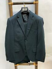 Giorgio Armani Mens Black Pinstriped Two-Piece Suit