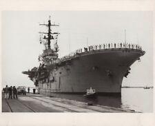 Orig Photograph USS Guam Vietnam War Era Lima Peru Docking Navy Assault Ship
