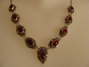 Ravissant collier argent grenat Necklace silver