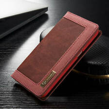 For Samsung Galaxy S6 /S7 Edge Canvas Leather Wallet Card Flip Stand Case Cover