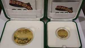 Saudi Arabia 2 MEDALS G20 SILVER WITH GOLD PLATED