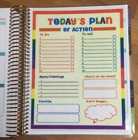 Today's Plan of Action Two-Sided Dashboard 4 use with Erin Condren Life Planner
