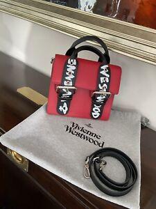 Vivienne Westwood Alex Bag .. Medium Red/Graffiti  💯% Authentic!!