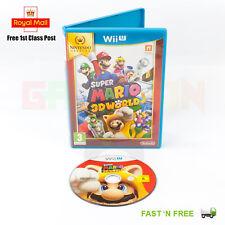 Super Mario 3D World Nintendo Wii U (PAL) Game ~ FAST & FREE UK P+P ~ Selects