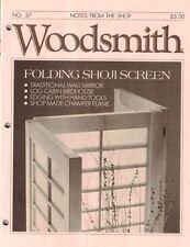 Woodsmith 1988 No 57 Folding Shoji Screen, Log Cabin BIRDHOUSE, Wall Mirror