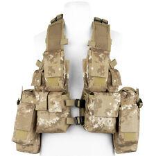MFH Tactical Vest Military Combat Airsoft Mesh Lining Vegetato Desert