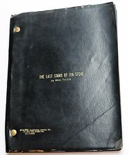 The Last Stand of Ida Stone * TV Script Unproduced 2 Hour Drama, by Mimi Torchin