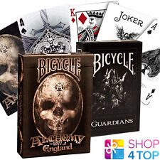 2 DECKS BICYCLE 1 GUARDIANS AND 1 ALCHEMY 1977 PLAYING CARDS MADE IN USA NEW