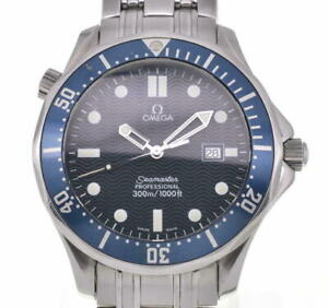 Authentic OMEGA SEAMASTER Professional Blue Dial Quartz Analog Stainless Watch