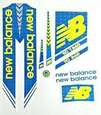 NB Cricket Bat Sticker Balance Blue Fluro Self Adhesive