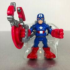 Playskool Marvel Super Hero Adventures POWER UP! CAPTAIN AMERICA figure w/shield