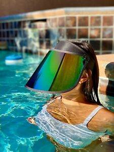 Summer Face Shield/Full Protection Face Cover/Mirror Holographic Clear/Protector