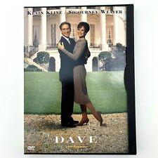 Dave DVD 1993 Widescreen Kevin Kline Sigourney Weaver Free Shipping