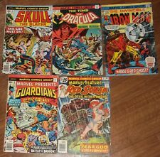 Vintage Marvel comic lot Guardians of the Galaxy Feature Red Sonja Dracula Skull